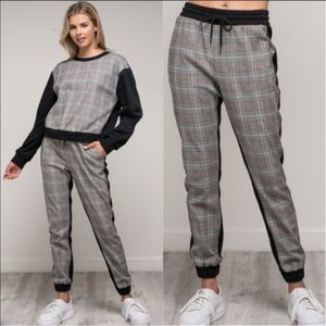 Mustard Seed Pants - SET⚡️Plaid Top + Joggers